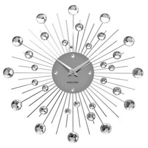 Karlsson sunburst Wall Clock - Silver