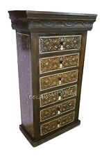 Wooden Bone Inlay Chest Of 6 Drawer Tallboy