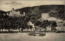 Coblenz Koblenz ~1910/20 Rhein Dampfer Schiff am Schloss Stolzenfels m. Capellen
