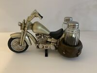 MOTORCYCLE Salt & Pepper Set Kitchen  Bar Ware Man Cave The Road's End