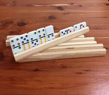 Pine Wooden Domino Holder / Rack  / Set of four
