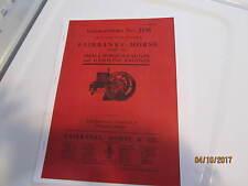 1911 Fairbanks Morse H Engine  Catalog