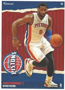 ANDRE DRUMMOND FATHEAD TRADEABLES DETROIT PISTONS UCONN HUSKIES DECAL 2014-15 20