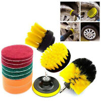 Drill Brushes Set 12pcs Tile Grout Power Scrubber Cleaner Spin Tub Shower Wall