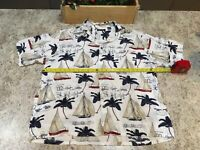 Vintage 90s Puritan Shirt Sail Boats Palm Tree Button Front Pocket XL GREAT GIFT