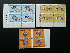 5th Malaysia 7th Asia Scout Jamboree 1982 (stamp block 4) MNH *see scan *rare