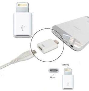 ADAPTATEUR LIGHTNING 8 PIN MICRO USB IPHONE 5 6 IPAD MINI IPOD TOUCH NANO
