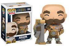 "LEAGUE OF LEGENDS BRAUM 3.75"" POP VINILE STATUETTA FUNKO 05 GIOCHI VENDITORE UK"