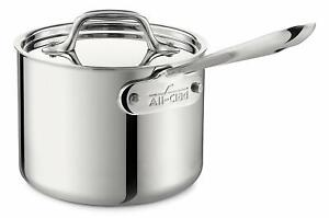 All-Clad 4202 Tri-Ply Stainless-Steel  2-qt Sauce Pan with lid