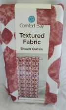 Shower Curtain Fabric NEW Bathroom Pink white