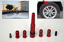 FORD SERIES RED ANTENNA WITH 4 TIRE VALVE COVERS (COMPATIBLE FOR AM/FM RADIO)