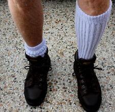 6 Lilac Lt Purple Men's Socks Flawed Long Heavy Winter Boot Sz 7-10 Slouch