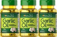 3 Bottles puritan's pride Garlic Oil 5000mg 100 Softgels/bottle 10 months supply