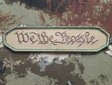 WE THE PEOPLE TAB MORALE MILITARY MULTICAM USA ARMY VELCRO® BRAND FASTENER PATCH