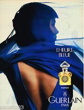 PUBLICITE ADVERTISING 055  1994  GUERLAIN  parfum  HEURE BLEUE