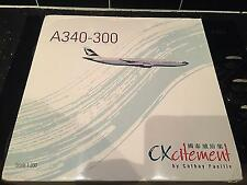 CATHAY PACIFIC A340-300 CXCITEMENT SCALE 1:200 NEW NIB RARE AIRPLANE MODEL MIB