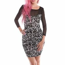 IRON FIST DONT CROSS ME LADIES BLACK DRESS SIZE X-SMALL
