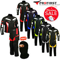 Motorbike Cordura Suit Motorcycle Jacket Trouser Full Waterproof CE Racing Suit