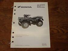HONDA OEM ATV ASSEMBLY & SET UP INSTRUCTIONS TRX 400 FW 2003 MPD 9747 (0206)