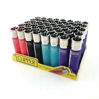 Clipper Lighter Soft Touch Gas Black Blue Pink Purple Refillable Lighter
