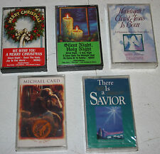 5 Religious Christmas Cassette Tapes There is a Savior, Hallelujah Christ Jesus