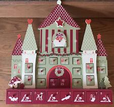 3D Wooden Advent Castle Calendar 24 Drawers Reusable