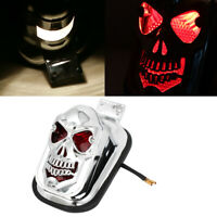 Red Yellow Skull Tail Light License Plate Bracket for Motorcycle