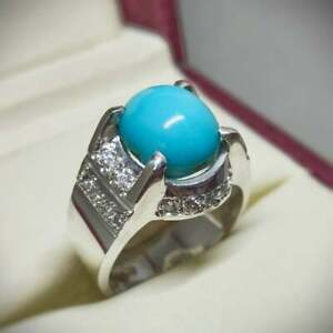 Women Turquoise Ring Feroza Ring Handmade Sterling Silver 925 Turquoise Ring