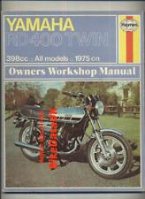 Yamaha RD400 (1975-1977) Haynes Shop Manual RD 400 Micron Allspeed Beckett BY10