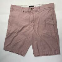 Banana Republic Men Aiden Linen Cotton Chino Casual Shorts Size 34 Flat Front