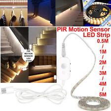 0.5M-5M Smart LED Strip Light 5V USB PIR Motion Sencer Flexible Adhesive Lamp UK