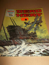 DEAD HEAT No. 1209 BATTLE COMIC / BOOK ( FLEETWAY ) * UK FREEPOST *