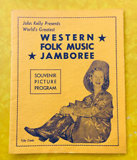New listing 1950s Souvenir Program ~ John Kelly Presents Western Folk Music Jamboree