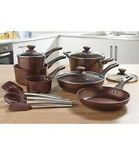 10-Pc Bronze Cookware Non Stick Pan Set Forged Aluminum