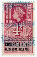 (I.B) Elizabeth II Revenue : Contract Note (Northern Ireland) 4/-