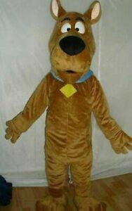scooby-doo dog brown Mascot Costume cosplay Adult Suit fancy dress