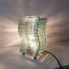 Vintage  Lampada Artigianale In Vetro e  Metallo Design ad Effetto Ondulato