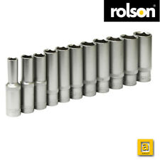 "Rolson ® 11pc Deep Socket Set 3/8"" Sq. Dr. Metric Deep Sockets"