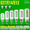 10x E27 E14 E12 Ultra Bright 5730 SMD 7/9/15/25W LED Corn Bulb Lamp White Lights
