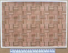 Dolls house 1/12th scale paper - A4 sheet - square block parquet wood flooring