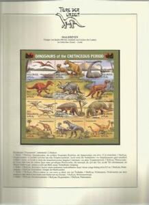 81619/ Dinosaurier Fauna Tiere ** MNH OHNE VORDRUCK MALEDIVEN