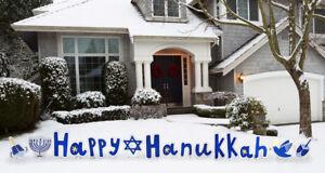Happy Hanukkah Yard Sign Chanukah Decoration Holiday Menorah Dreidel Jewish