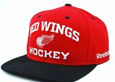 Detroit Red Wings Reebok NF96Z NHL Red & Black Team Logo Snapback Hockey Cap Hat