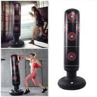 Adults Inflatable Punching Bag Boxing Standing Tumbler Fitness Sandbag P7U9