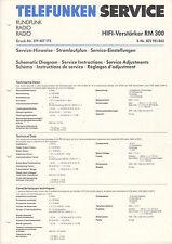 TELEFUNKEN Service Manual Anleitung RM 300  B1531