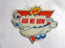 Vintage United Airlines Win Instantly Ask Me How Advertising Pinback
