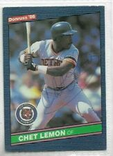 Chet Lemon Signed 1986 Donruss Baseball Card #90 Detroit Tigers