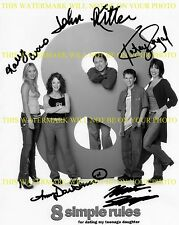 8 SIMPLE RULES AUTOGRAPHED CAST RP PHOTO JOHN RITTER KALEY CUOCO KATEY SAGAL +