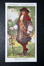 Samuel Pepys   Diarist       Vintage 1930's Colour Card   VGC