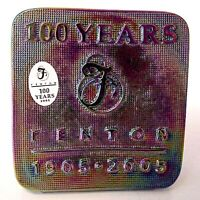 Fenton Iridized Black Glass Square Logo 100th Anniversary Limited To One Year